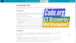 Code.org CS Discoveries Unit 2 Ch 8.7 - Web Development Debugging HTML