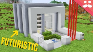 Futuristic Piston House in Minecraft 1.15