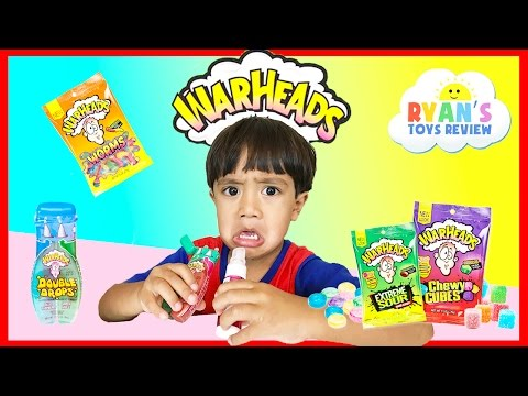 Thumbnail: EXTREME WARHEADS CHALLENGE Sour Candy challenge Kids Candy Review Ryan ToysReview