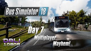 Bus Simulator 18 - Day 7 - Multiplayer Mayhem part 1