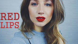 Идеальные КРАСНЫЕ ГУБЫ пошагово   sexy red lips makeup tutorial