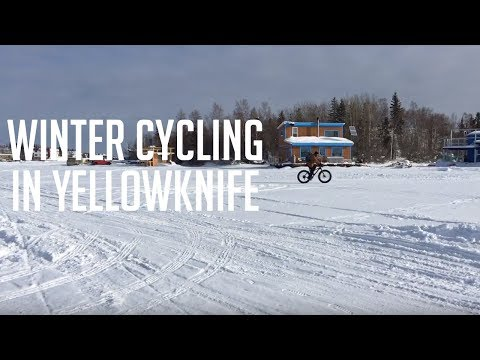 Winter Cycling in the subarctic city of Yellowknife