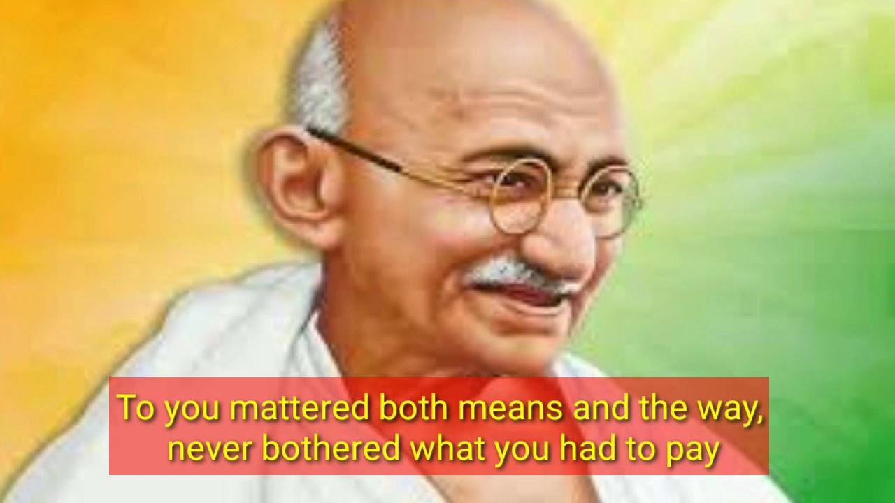 English Poem on Mahatma Gandhi 2020