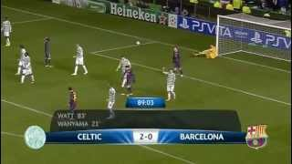 celtic 2 barcelona 1 2012 all goals