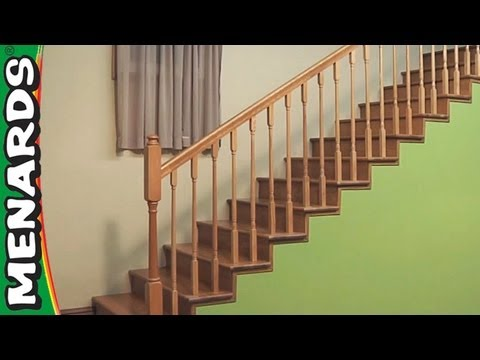 Installing Stair Rails Menards Youtube | Menards Outdoor Stair Railings | Composite | Front Porch Railing | Railing Systems | Patio | Deck Railing Kits