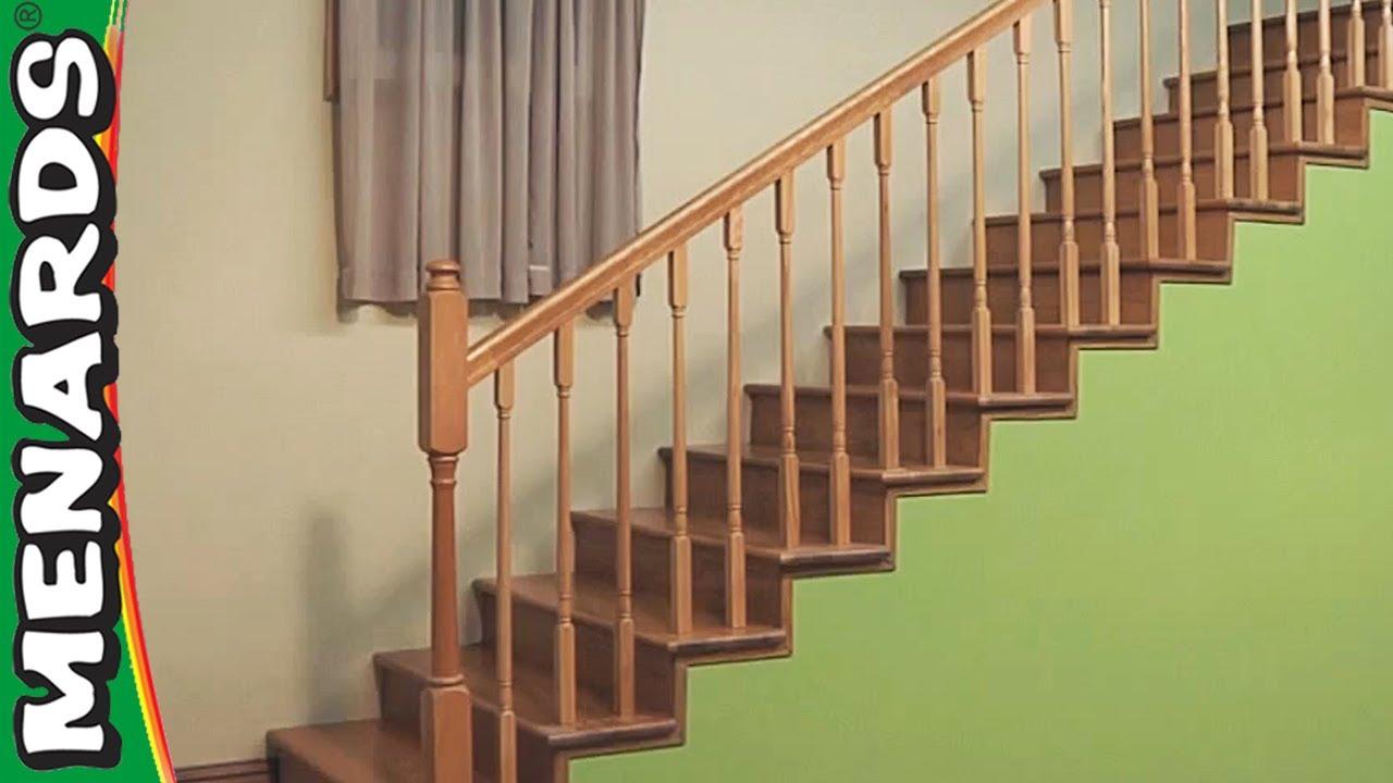 Installing Stair Rails Menards Youtube | Wood Railings For Steps | Craftsman Style | Inside | Glass | Verandah | Stair Outdoors