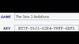 The Sims 3 Ambitions Keygen