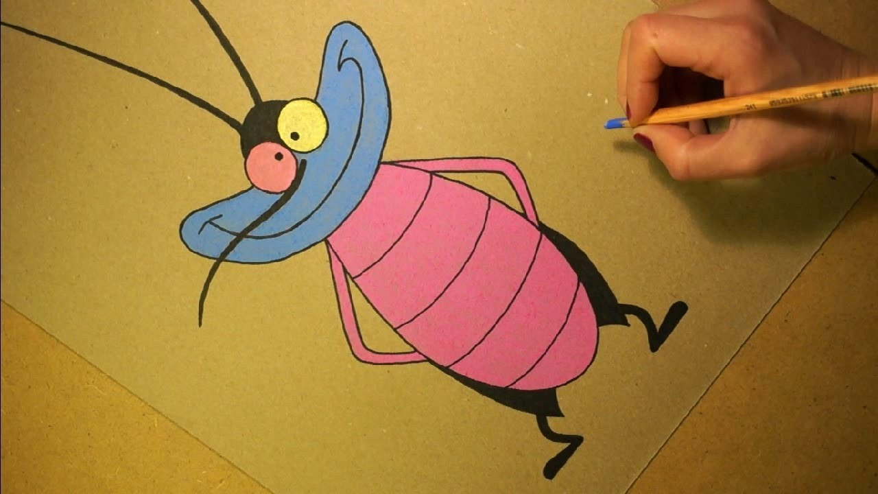 Sti 0 60 >> Drawing Joey Cartoon Character from Oggy and the Cockroaches. Soft Pastel. - YouTube