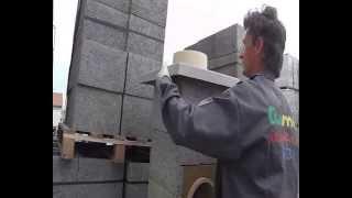Stavba vzorového komínového systému TUMA THERM - suchá montáž