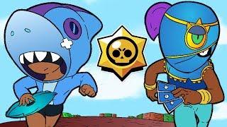 BRAWL STARS ANIMATION: LEON SHARK VS TARA (Parody)