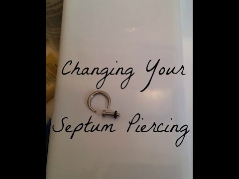 How To Change Your Septum Piercing Youtube