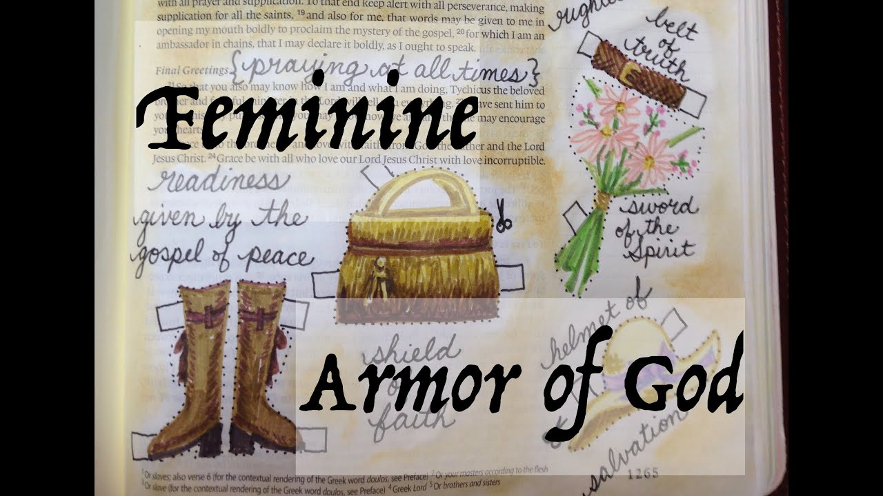 bible journaling armor of god ephesians 6 by monica youtube