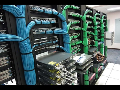 Server Room Networkcable Fixing
