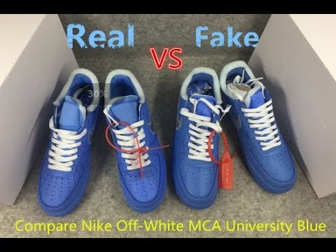 Real Vs Fake Air Force 1 Low Off White Mca University Blue