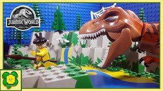 Lego Jurassic World | Tyrannosaurus Rex Reborn | Stop Motion Animation