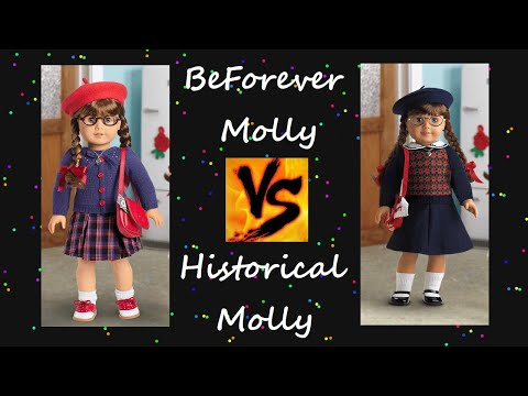 BeForever Molly VS Historical Molly ~ American Girl Doll Molly Comparison