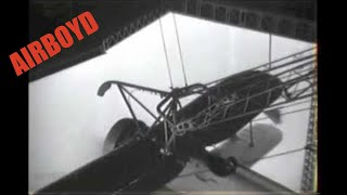 Biplane Launch From Airship USS Akron (ZRS-4)