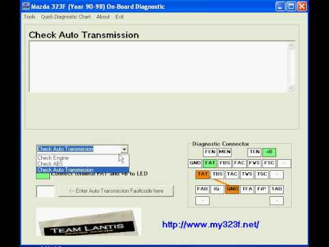 mazda 323f (year 90-98) on-board diagnostic tool - youtube, Wiring diagram