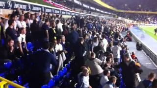 arsenal fans singing is there a fire drill to deserting spurs fans