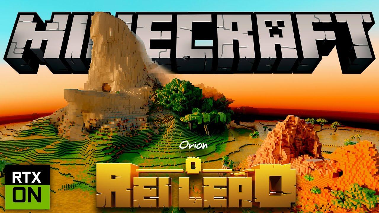 Minecraft: Rei leão - COM GRÁFICOS E TEXTURAS REALISTAS! - RAY TRACING [NVIDIA]