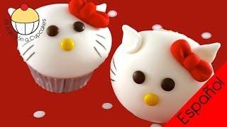 ¡Cupcakes al Estilo de HELLO KITTY! Haz Cupcakes de Hello Kitty - Cupcake Addiction