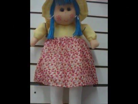 muñecas , de tela tipó pepona grande hecha a mano! - YouTube