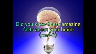 Most amazing facts about human brain (part-2)