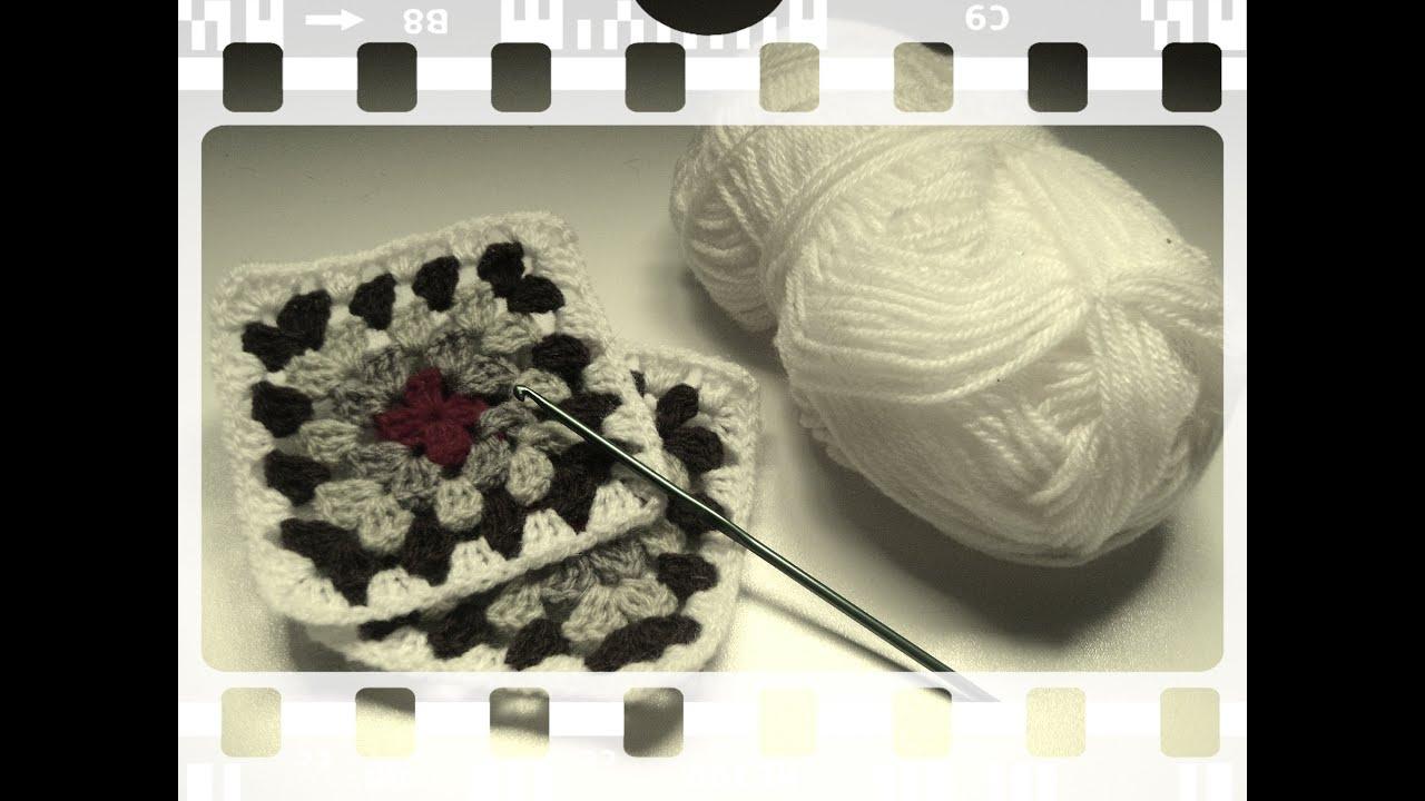 Granny Square: como unir los cuadros tejiendo (diestro) - YouTube
