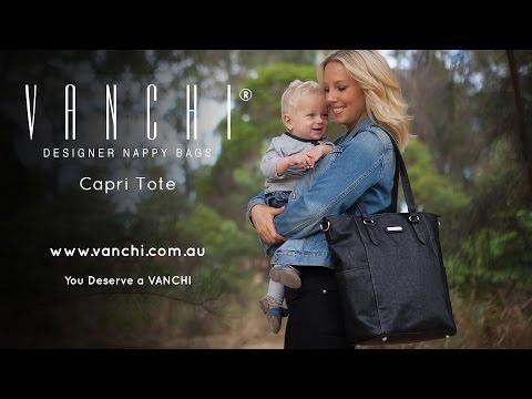 Vanchi Capri Tote Nappy Bag