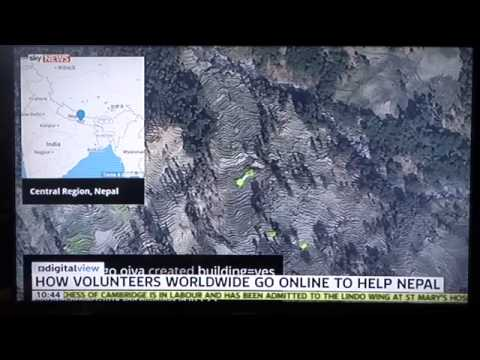Sky news interview - HOT Nepal earthquake mapping