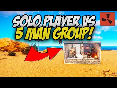 STEALING RICH LOOT from 5 MAN GROUP! - Rust Solo Survival Gameplay Ep 1
