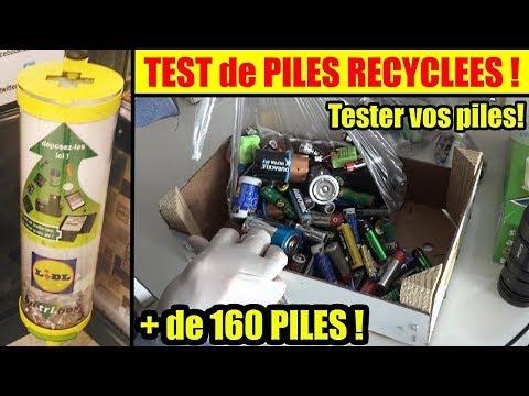 Test de piles gratuites recyclées ! jetées ! tester vos piles avant de les recycler !