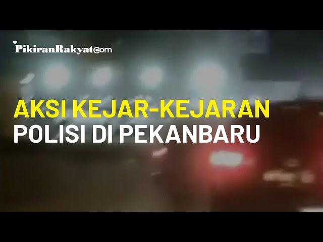 Viral, Video yang Merekam Aksi Kejar-kejaran bak Film Aksi Petugas Kepolisian di Pekanbaru, Riau