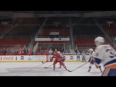 AHL teams play in front of an empty arena | ESPN