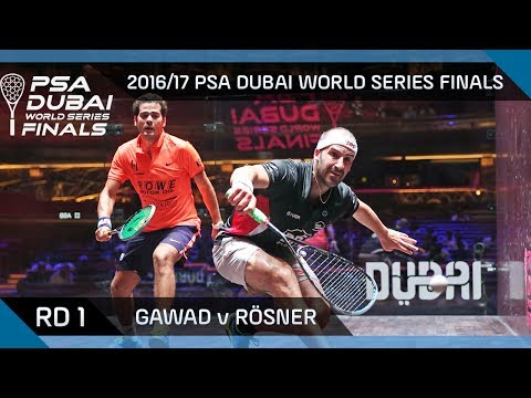 Squash: Gawad v Rösner - Rd 1 - PSA Dubai World Series Finals 2016/7