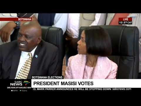 Botswana Elections  | President Masisi votes