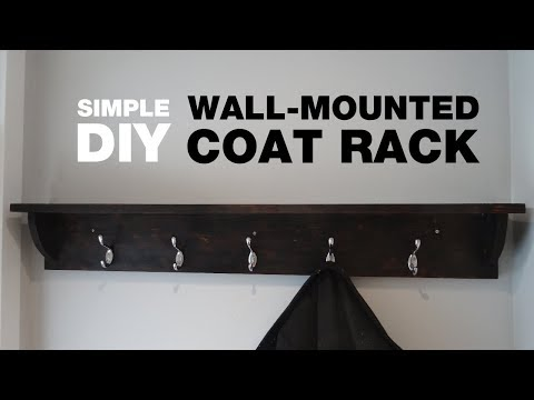 How to Build a Wall-Mounted Coat Rack