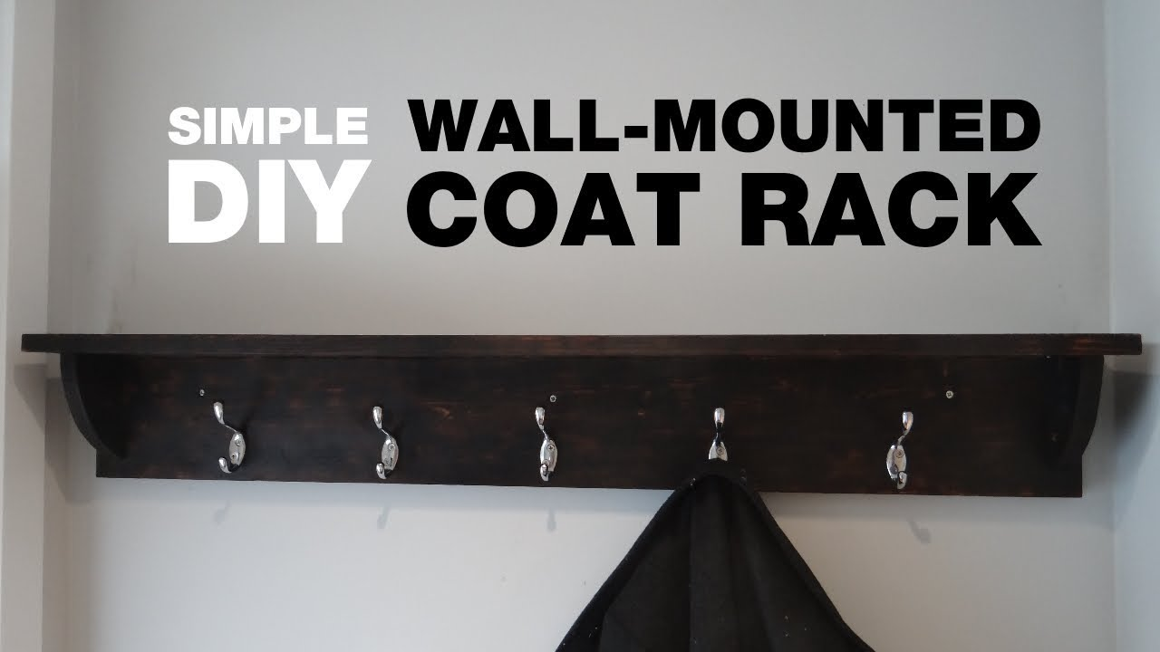 How To Build A Wall Mounted Coat Rack Youtube