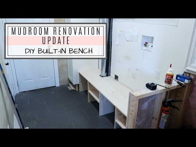Quick Mudroom Renovation Update | Custom Bench