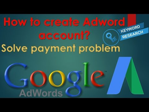 How to create adwords account free 2017 for seo keyword research