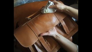 How to clean leather bags/leather accessories.