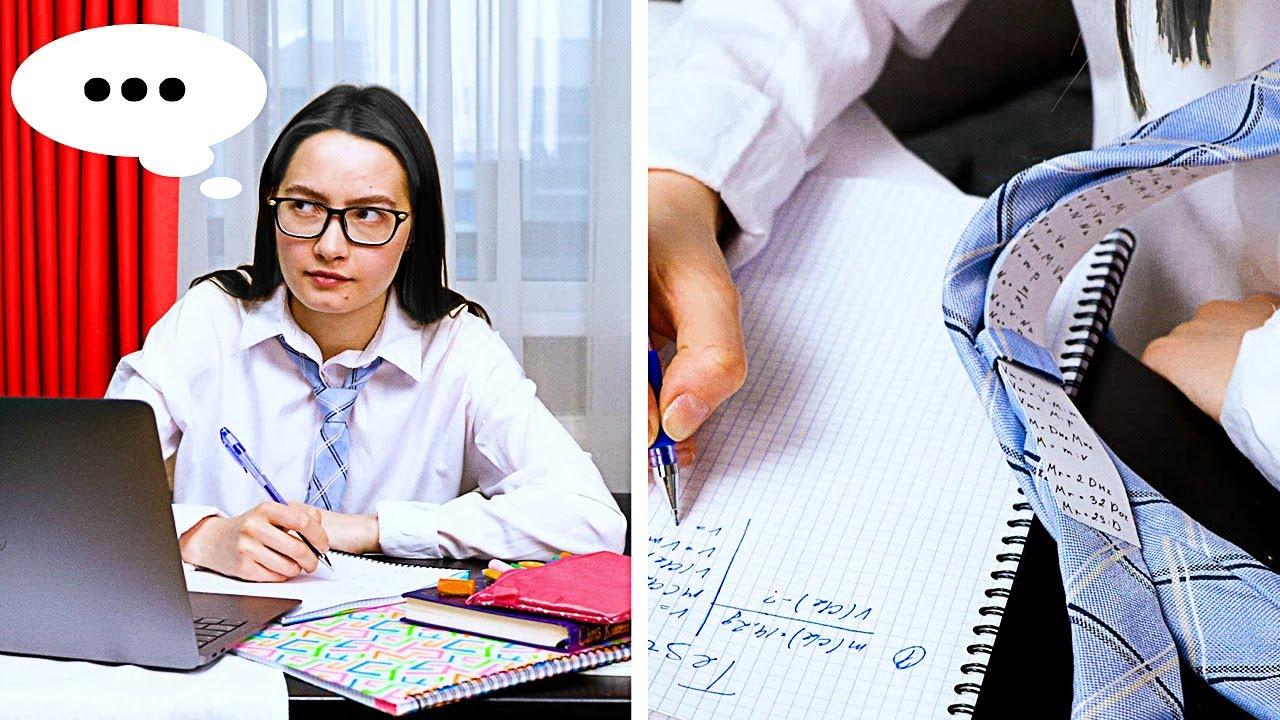 28 GENIUS SCHOOL HACKS FOR STUDENTS || Brain Training Tricks by 5-Minute DECOR!