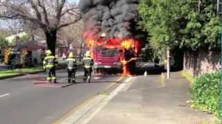 Burning truck on Paradise Road, Cape Town (Firetruck)