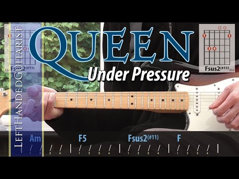 Queen & David Bowie - Under Pressure | guitar lesson