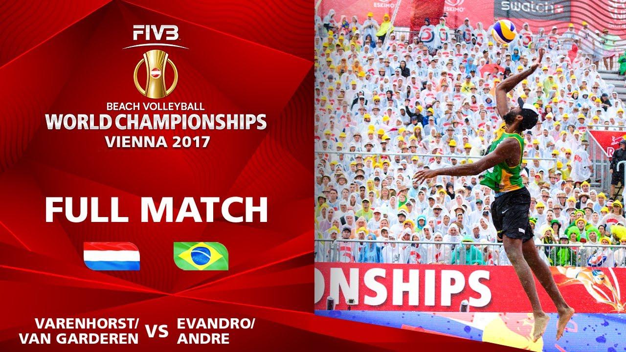 Varenhorst/Van Garderen vs. Evandro/André - Semifinal | Beach Volleyball World Champs Vienna 2017
