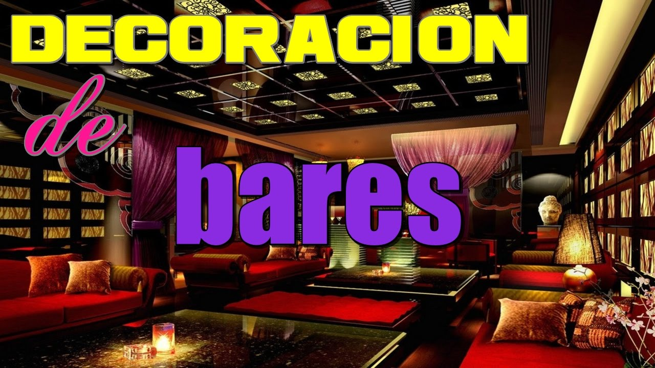 Decoracion de bares como decorar un bar e ideas para - Ideas decoracion bar ...