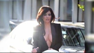 Kim Kardashian zeigt viel Haut, als sie ohne BH unterwegs ist