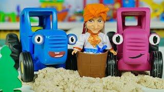 Поиграем в Синий трактор - Приключение в лесу на Хэлоуин - Баба Яга помогла Трактору