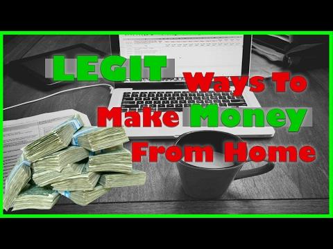 Ways To Make Money From Home | Legitimate Work At Home Jobs | Make Money | Mario Cottman
