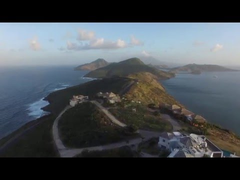 St Kitts Drone Flight over multi million dollar mansions